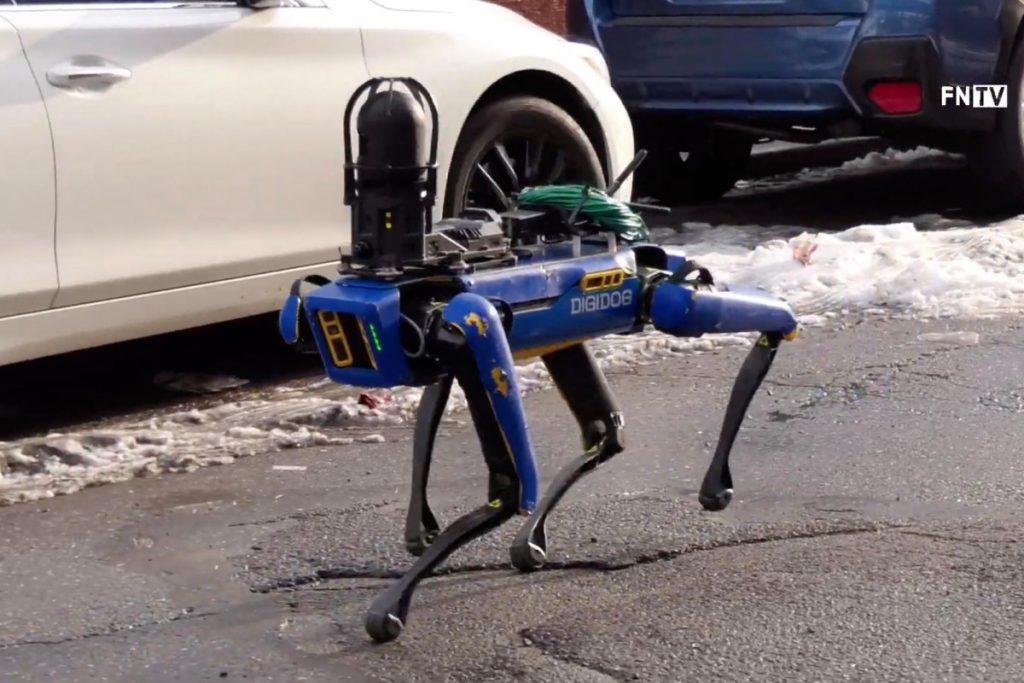 The NYPD robot dog. Image from New York Post