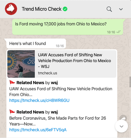Use Trend Micro Check to gather information you need to tell what's real. Source: The Wall Street Journal