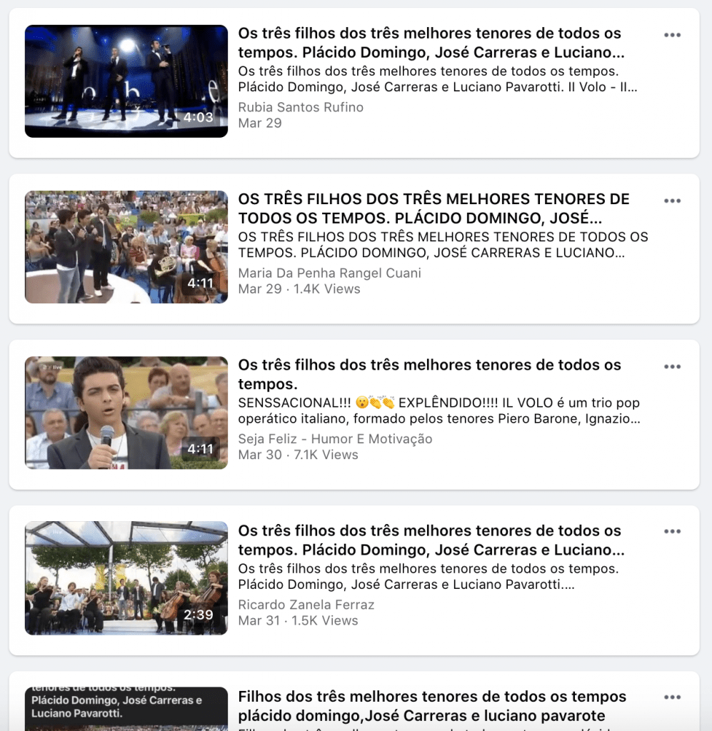 Miscaptioned videos are spread on Facebook.