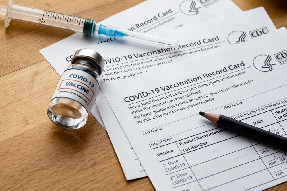 COVID vaccine record card