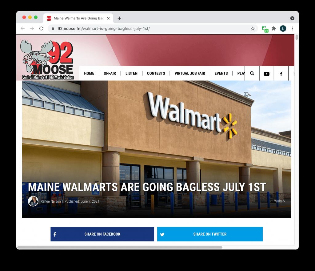Walmart bagless