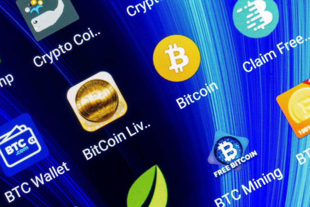 Mobile application for bitcoin